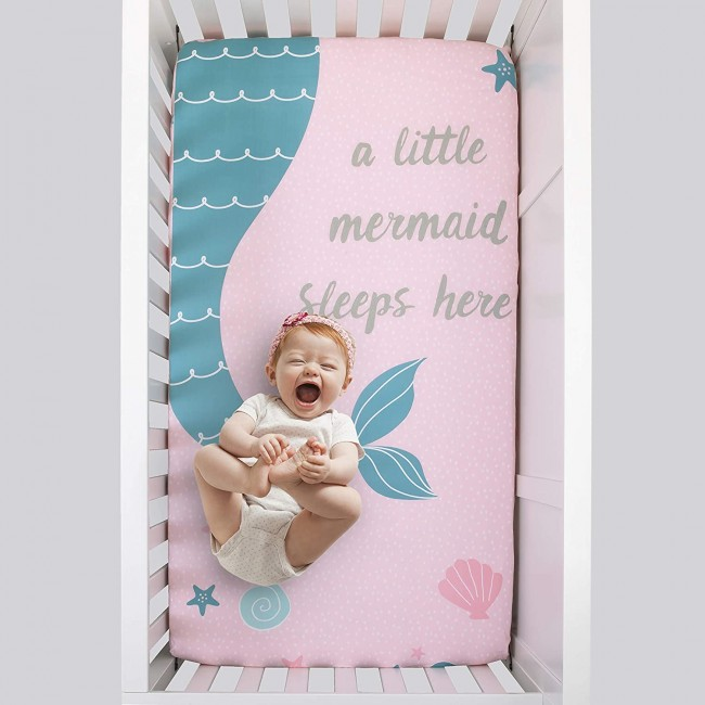 Sugar Reef Mermaid Crib Sheet