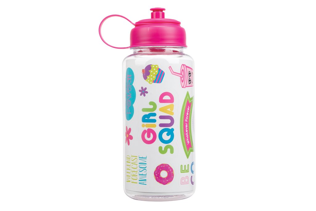 Sticker Me Water Bottle Pink