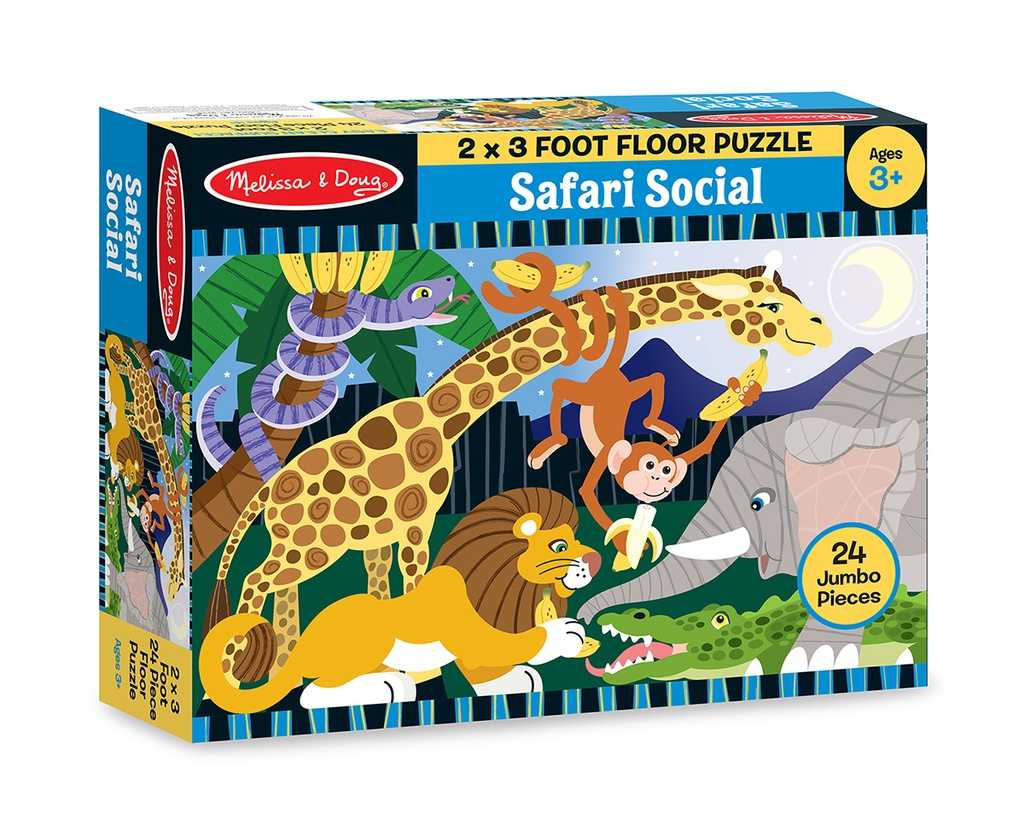 Floor Puzzle Safari Social 24