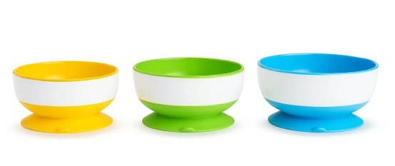 Stay Put Suction Bowls 3pk