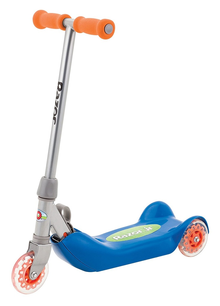 Folding Kiddie Kick Scooter Blue