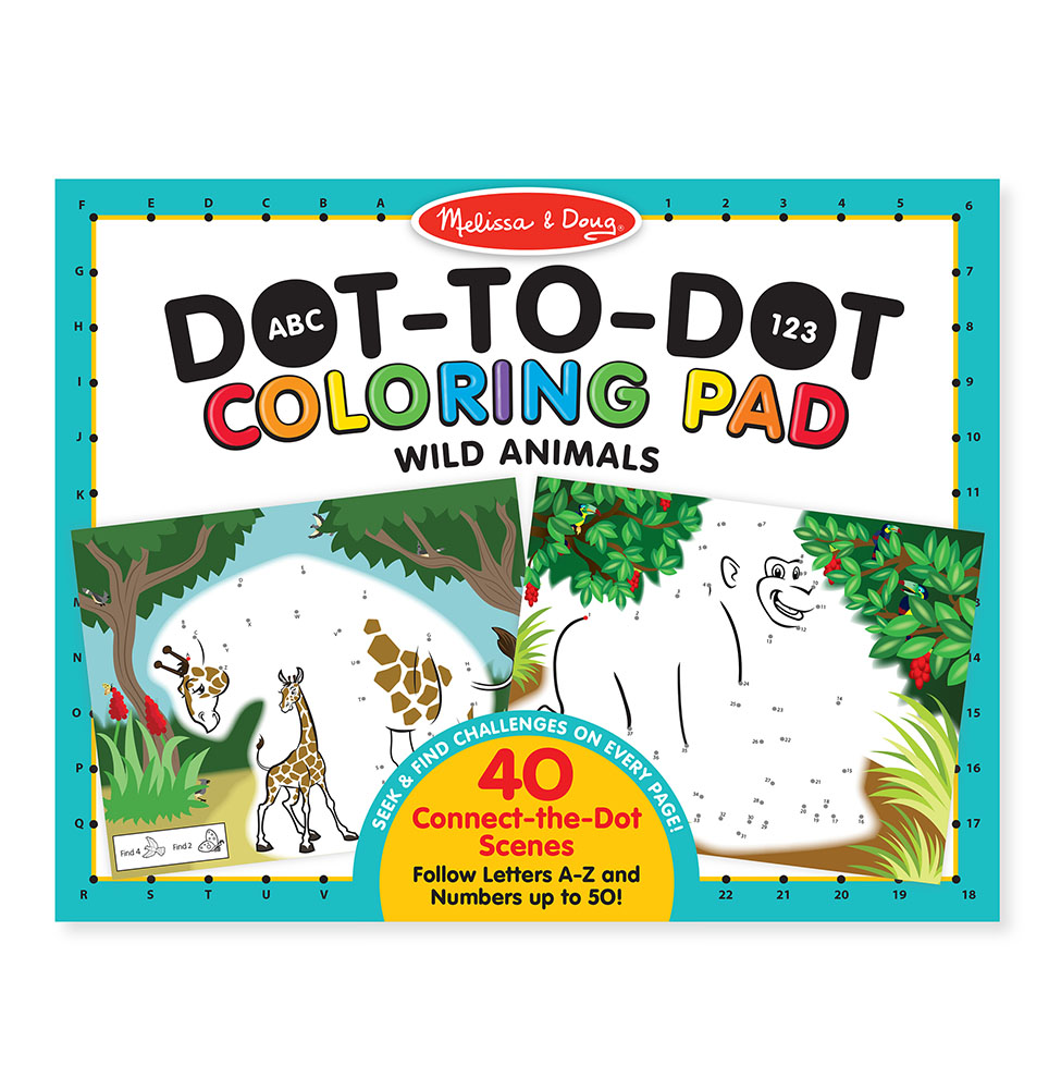 ABC 123 Coloring Pad