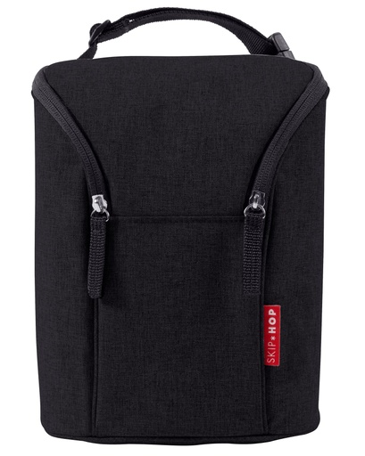 [149870-BB] Grab & Go Dbl Bottle Bag Black