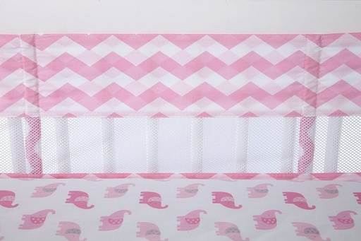 [159013-BB] Pink White Chevron Crib Liner