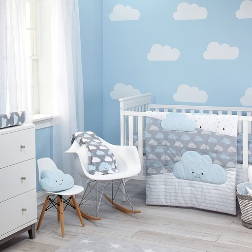 [159003-BB] Happy Little Clouds 5 Pce Crib Set