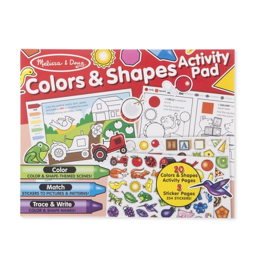 [149611-BB] Colors & Shapes Sticker Pad